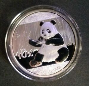 2017 10 Yuan Chinese Panda 30g .999 Fine Silver Coin in Airtite Case.