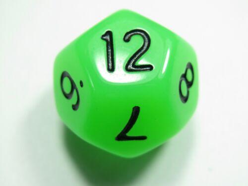 Frost Neon Green D4 D6 D8 D10 D12 D20 D00-90 NEW RPG Dice Set of 7