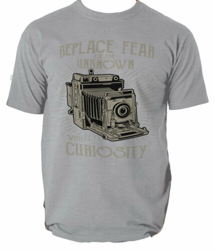 Replace Fear t shirt camera vintage  S-3XL