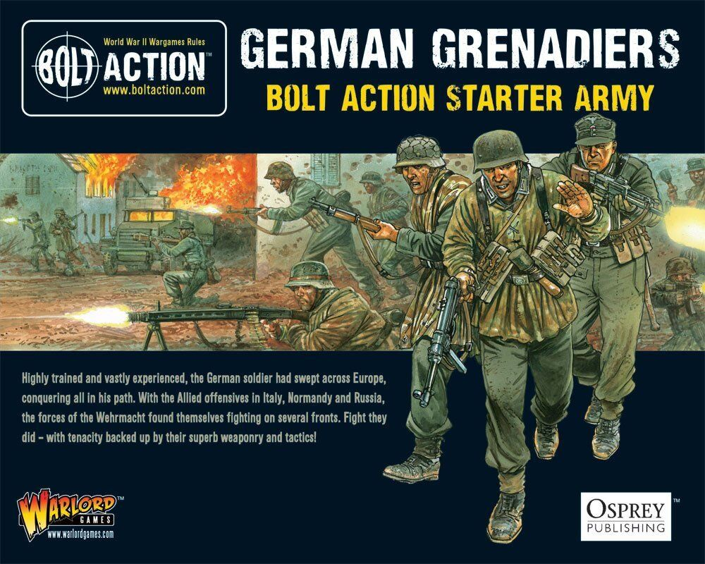 GERMAN GRENADIERS STARTER ARMY - 28mm Bolt Action Wargaming Miniatures by (n8B)