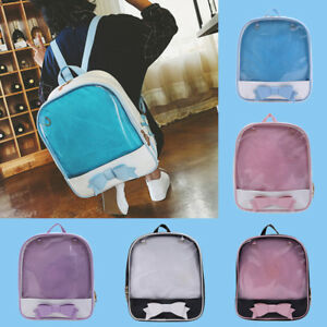 Image is loading Women-Backpack-Summer-Candy-Clear-Bow-Transparent-Backpacks - 973ee0f59fa02