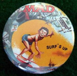 MAD-MAGAZINE-034-SURF-039-S-UP-034-Promo-Pinback-Button-Pin-1987