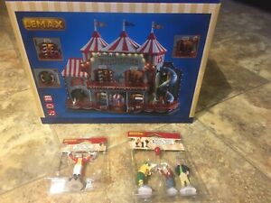 Lemax CIRCUS FUNHOUSE With CLOWN & RINGMASTER Holiday Village-Carnival -Train
