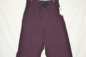 VanHeusen-Men-039-s-Sleepwear-Microfleece-Tall-Man-Pant-Burgundy-Size-LT