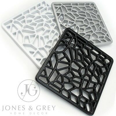 """Standard 6/"""" BLACK SQUARE DRAIN GULLEY GRID COVER Drainage//Channel Lid//Cap NEW"""