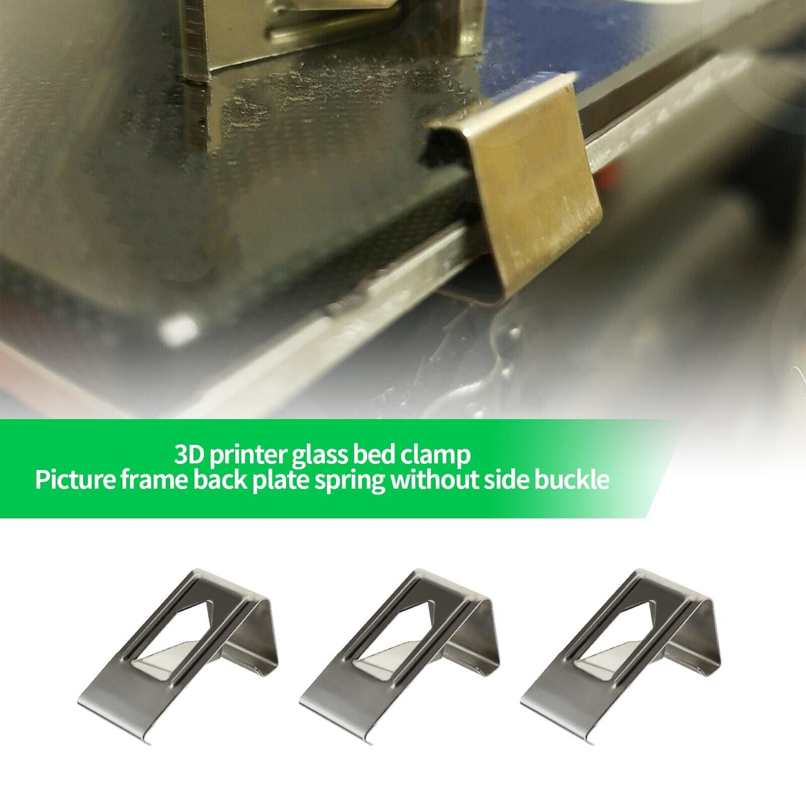 100 Pcs Silver Photography Photo Frame Metal Spring Turn Clip Hanger Hooks