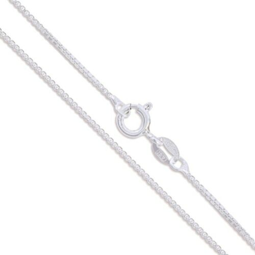 """20/"""" Sterling Silver Necklace Italian Box Chain Pure 925 Italy New USA Wholesale"""