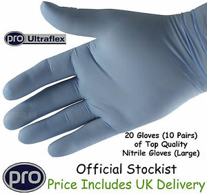 20 Disposable Protective Latex Gloves 10 pairs