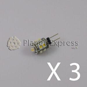3-x-Bombilla-G4-10-Led-SMD-Blanco-Frio-60-Lumen-12V-DC-caravana-barco-coche