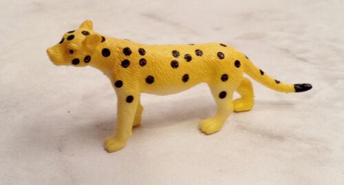 Miniature Orange Black Tiger and Yellow Black Cheetah Animal Figurine Set