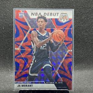 Ja Morant 2019-20 Panini Mosaic NBA Debut Blue Reactive Prizm Rookie Card #274🔥