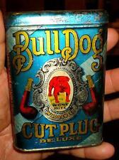 ANTIQUE BULL DOG CUT PLUG TOBACCO TIN SUPER CLEAN!! WOW!