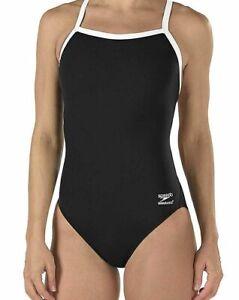 Speedo-Women-Swimwear-Black-Size-28-Training-Endurance-Flyback-Swimsuit-69-025