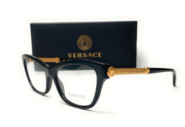 Black VE3211A-GB1-55 Versace VE3211A Eyeglass Frames GB1-55