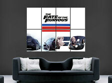 FAST AND FURIOUS 8 FILM TV POSTER WALL ART PICTURE PRINT LARGE