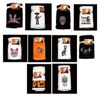 2 Kassa Fina Plush Velour Embroidered Halloween Hand Towels You Pick Design