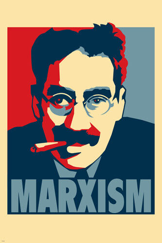 MARXISM poster 24X36 COMIC GROUCHO MARX W//CIGAR RED WHITE /& BLUE funny PY1