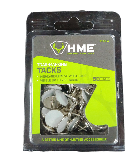HME Products Reflective Tack Pack of 50 White RT-50-W NEW