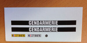 DECAL-DECALCOMANIE-1-32-GENDARMERIE-POUR-MATRA-DJET-OU-AUTRE-PROTO-SLOT-KIT