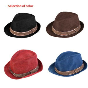 Baby Girl Boy Toddler Kid Cap Fedora Hat Jazz Cap Photography Cotton Trilby Hot