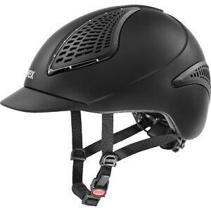 Uvex EXXENTIAL 2 II GLAMOUR Diamante Riding Helmet Adjust Hat KiteVG1 Black/Grey