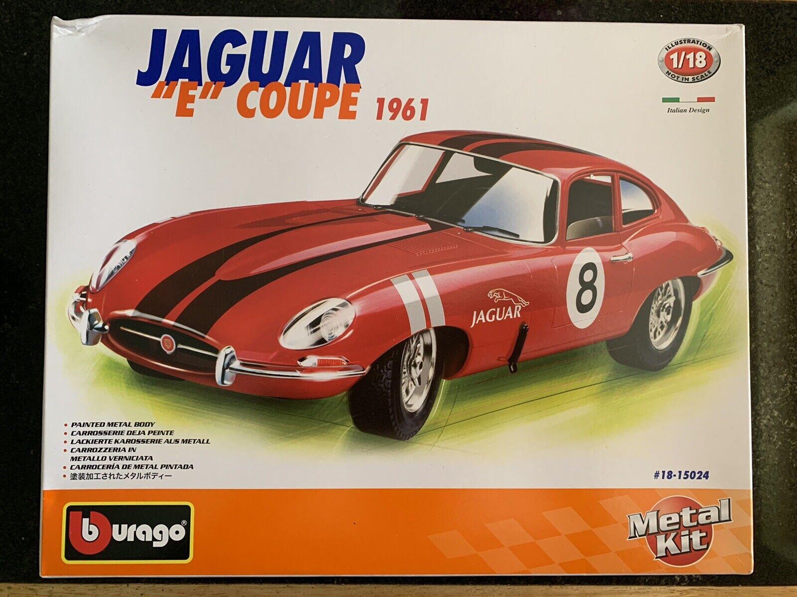 1 18 Jaguar E Type Coupe rot Race Car No8 1 18 Diecast Classic Car Kit (New)