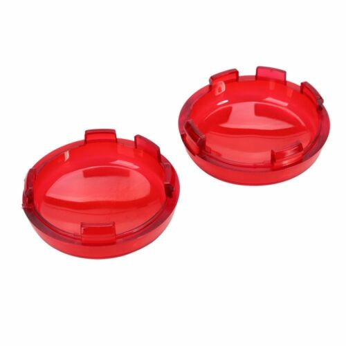 2x Red Lens Cover Turn Signals Light For Harley Dyna Fatboy Night Train Breakout