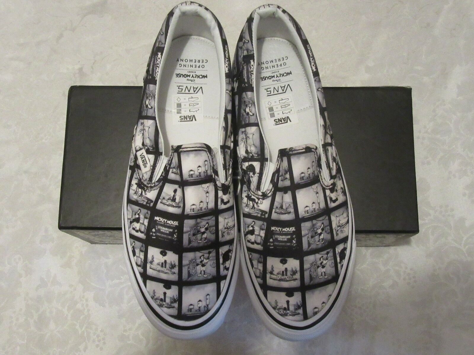 Vans Disney Mickey Mouse Steamboat Willie Filmstrip Opening Ceremony Size 10.5
