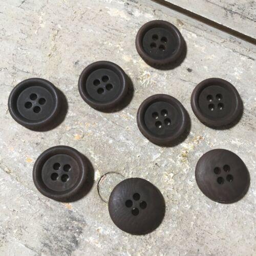 8 x Ted Baker Endurance authentique de la marque remplacement Marron Circulaire boutons 1.5 cm