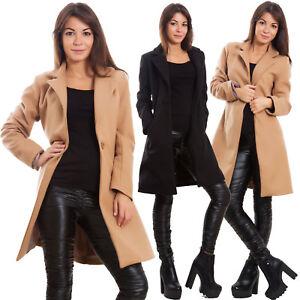arrives f4290 7ecef Dettagli su Cappotto donna monopetto giaccone caldo giacca invernale panno  sexy VB-2990