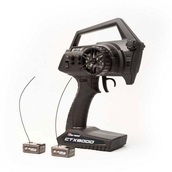 Carisma Ctx8000 2.4ghz 2.4ghz 2.4ghz Fhss 2-Channel Pistol Radio W  2 Receivers CIS15644 7a9629