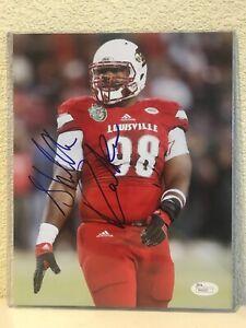Sheldon Rankins Signed Louisville Cardinals 8x10 Photo JSA