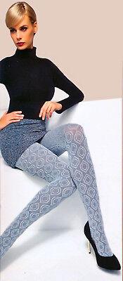 Blickdichte Strumpfhosen mit Muster warm aus Baumwolle 200 DEN S-L 2 Farben