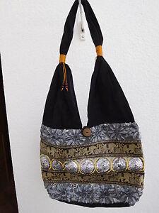 Damen-Taschenbeutel-aus-Stoff-mit-Applikationen