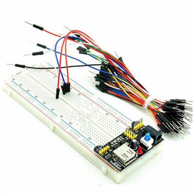 Module 3.3V 5V Solderless +65PCS Jump Cable Wires Breadboard Board 830 Point