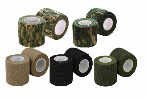 Kombat Stealth Self Cling Sniper Tape Green, Tan, Black or Camo 5cm x 4.5m