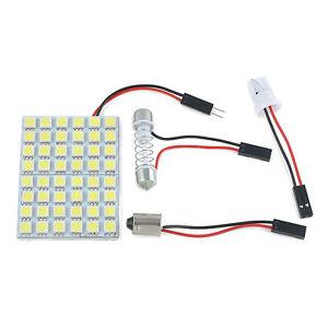 Blanco-48-SMD-5050-LED-Lampara-Luz-Interior-Del-Coche-Panel-T10-Festoon-domo-BA9S-12V