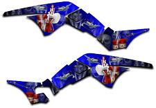HONDA TRX250R GRAPHICS DECAL KIT AMERICAN HERO TRX 250 R STICKER PINUP BLUE