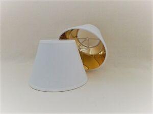 Paralume a molla in tessuto bianco oro per lampadari applique ebay