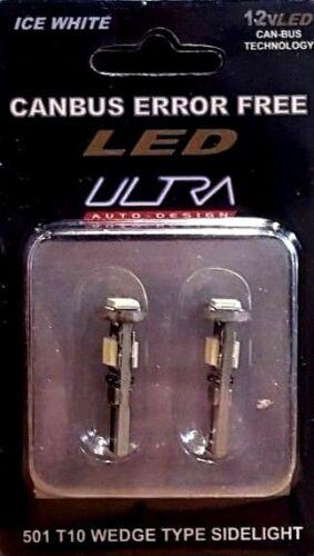 White Sidelight Bulbs T10 Ultra LED Canbus Error Free 501