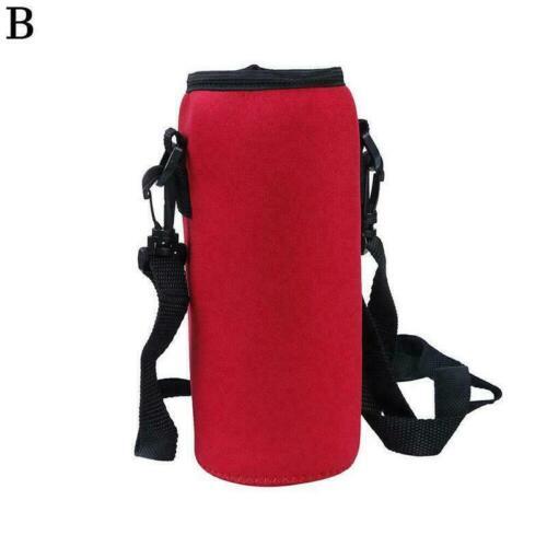 1000ml neoprene water bottle carrier insulated cover bag holder strap H8Q1