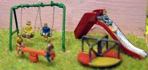 Children-Playground-A82-UNPAINTED-N-Gauge-Scale-Langley-Model-Kit-Figures-Metal