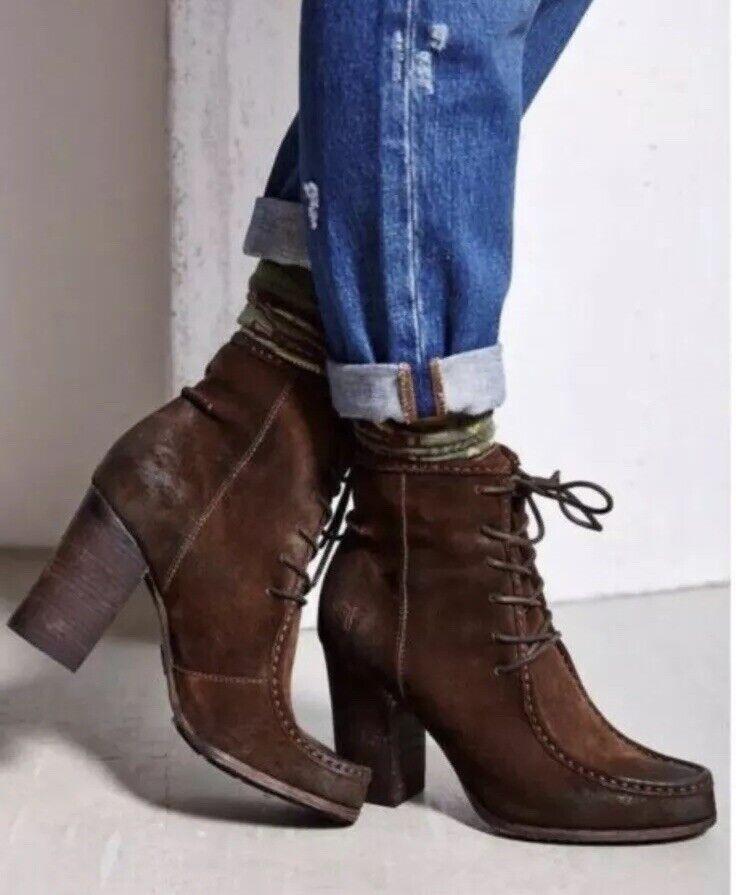 Frye Parker Moc bota corta para mujer botas de cuero de gamuza quemado Botines GUC