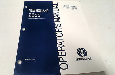 Fashion Style 1999 New Holland 2355 Header Operators Manual Media