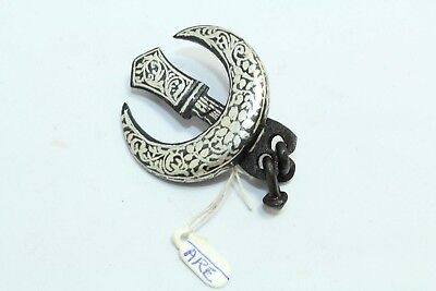Traditional Sikh Kalgi Chand Tora Turban Pin Brooch with Silver Wire Work