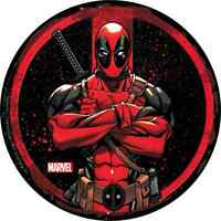 Deadpool Circle Arms Crossed Sticker Licensed Decal 3.5 Marvel S-mvl-61