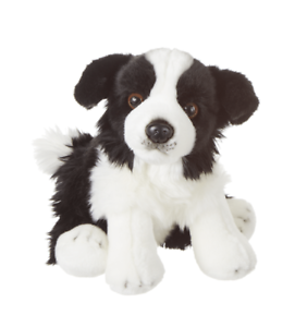 Ganz E1 Baby Heritage Collection Border Collie Dog 12in Plush Stuffed Toy H14713