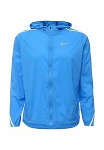 azul Nwt Chaqueta con Imposiblemente capucha para correr 110 Men Nike 717764 ligera capucha con 1rq7U1w