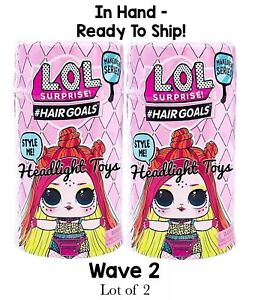 2-LOL-Surprise-Makeover-Series-5-WAVE-2-Hairgoals-Doll-Ball-Boys-Sparkle-In-Hand