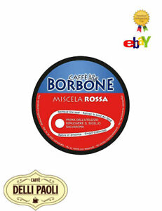 90-capsule-Caffe-Borbone-100-compatibili-Dolce-Gusto-Nescafe-miscela-RED-ROSSA